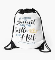 Over The Castle on The Hill Drawstring Bag