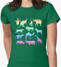 Wild Animals - Neon Womens Fitted T-Shirt