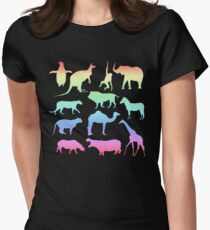 Wild Animals - Neon Womens Fitted T-Shirt