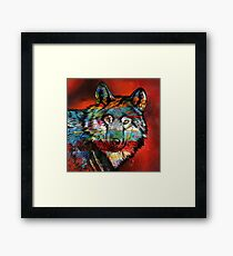 Electric Wolf Framed Print