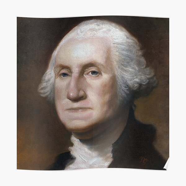 George Washington Oil Painting Poster