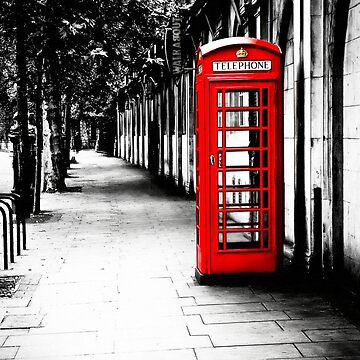 London Calling - London Red Telephone Booth - Classic British Phone Box by marksda1