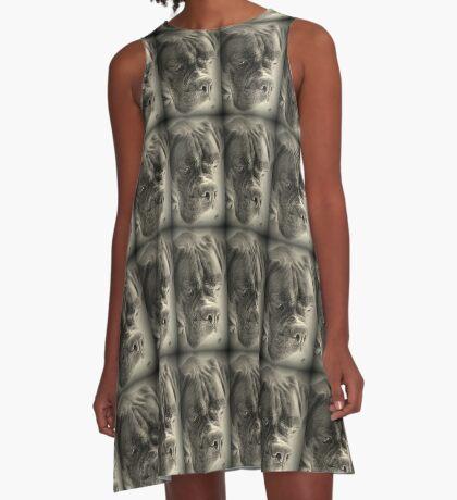 Warten auf meine Treat - Boxer Dogs Series A-Linien Kleid