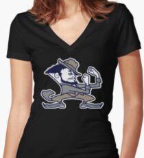 Fighting Torgos Team Logo Women's Fitted V-Neck T-Shirt