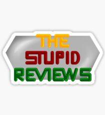 The Stupid Reviews Retro titles Sticker