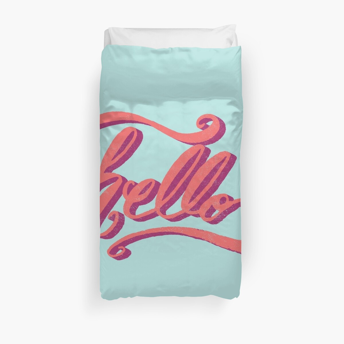 Quot Hey Hi Hello Quot Duvet Covers By Jess Emery Redbubble