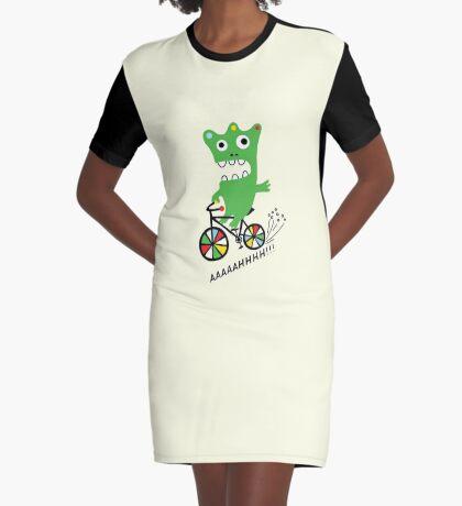 Critter Bike maize Graphic T-Shirt Dress