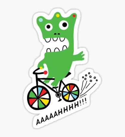 Critter Bike maize Sticker