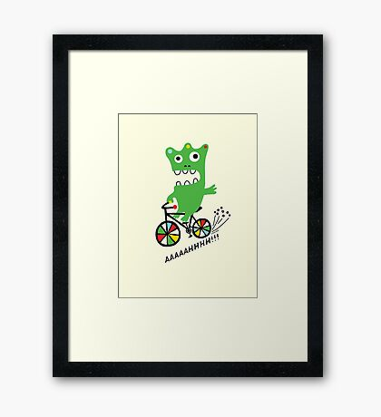 Critter Bike maize Framed Print