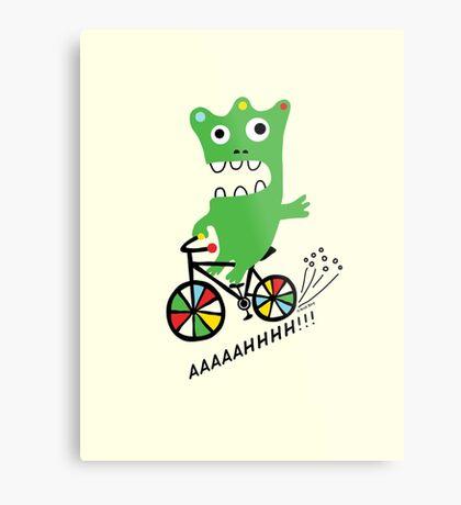 Critter Bike maize Metal Print
