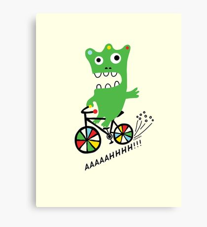 Critter Bike maize Canvas Print