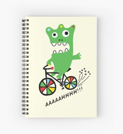 Critter Bike maize Spiral Notebook