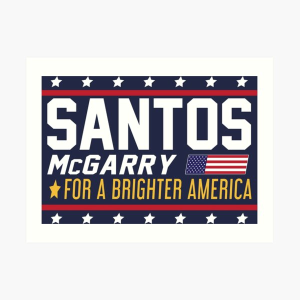 Santos and McGarry Campaign Poster from West Wing Art Print