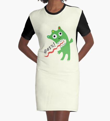 Critter Expletive maize Graphic T-Shirt Dress