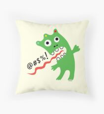 Critter Expletive maize Throw Pillow