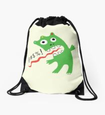 Critter Expletive maize Drawstring Bag