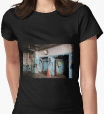 abandoned candy factory 5 Womens Fitted T-Shirt