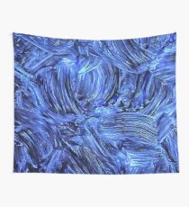 Brushed Blue  Wall Tapestry