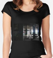 abandoned candy factory 5 Women's Fitted Scoop T-Shirt