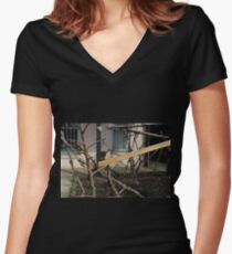abandoned candy factory 7 Women's Fitted V-Neck T-Shirt