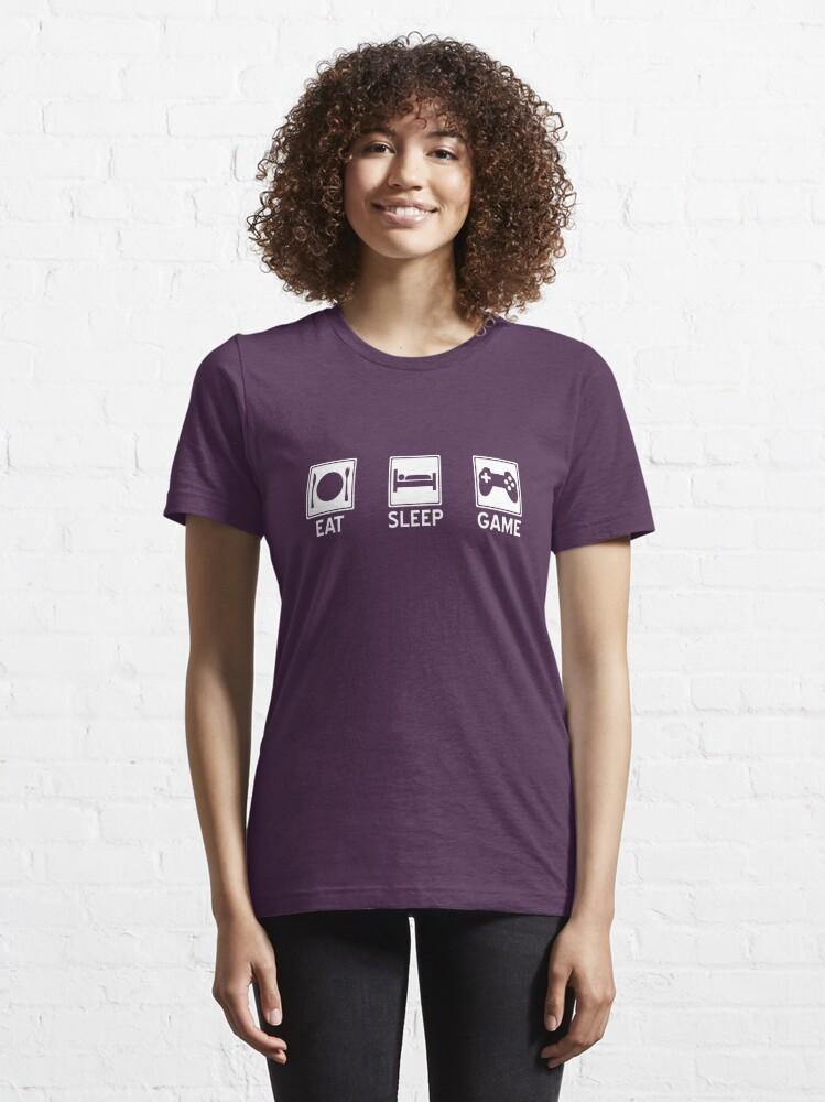 Alternate view of Eat, Sleep, Game Essential T-Shirt
