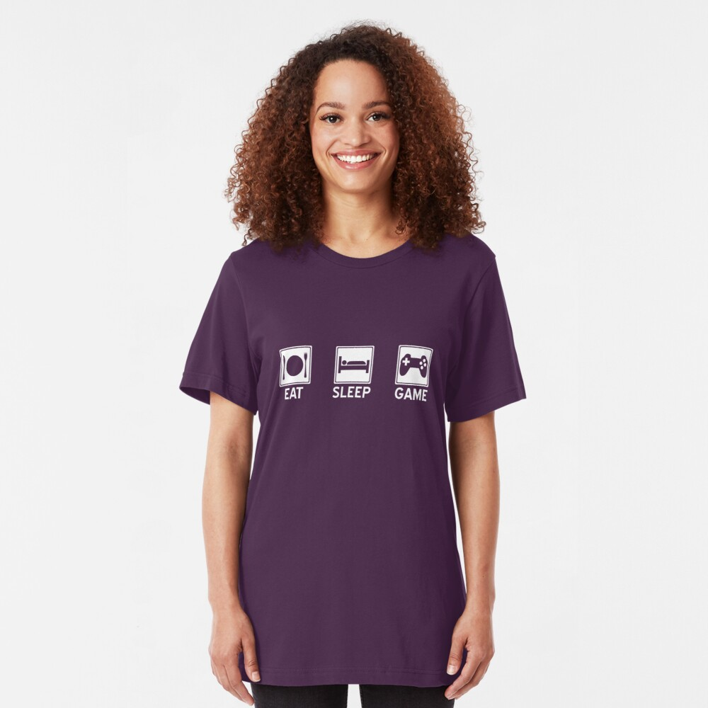 Eat, Sleep, Game Slim Fit T-Shirt