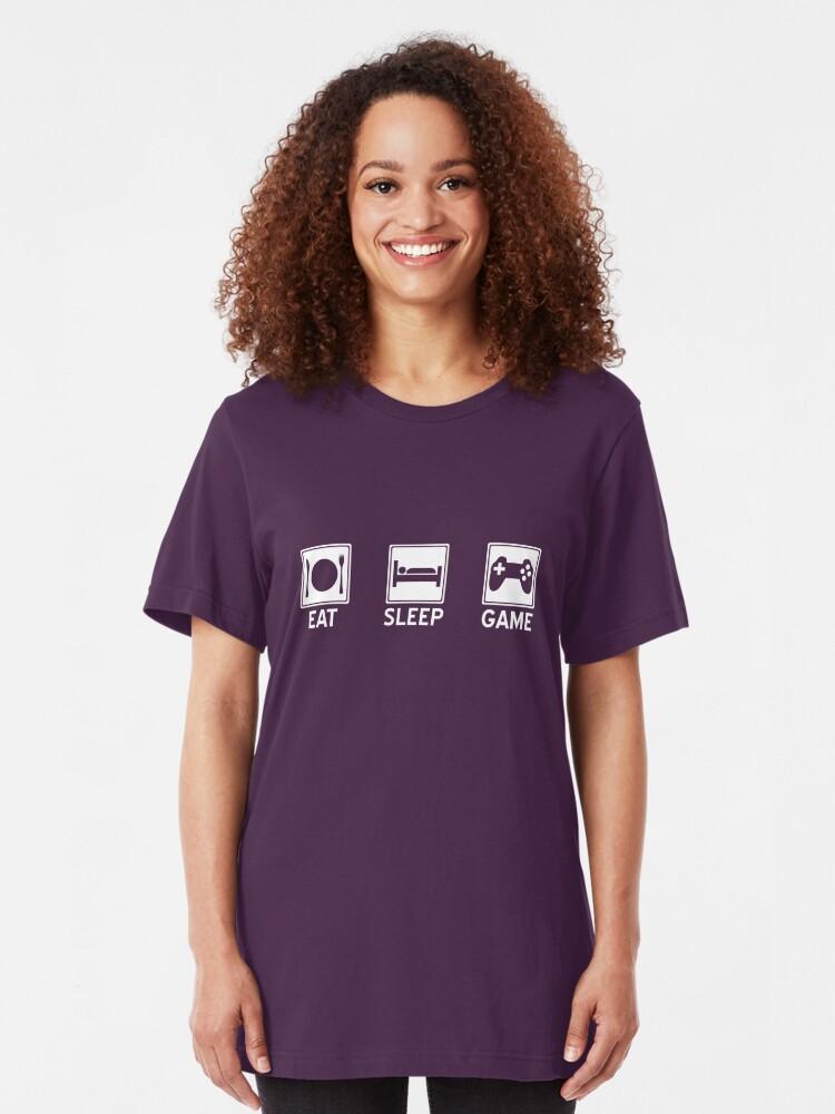 Alternate view of Eat, Sleep, Game Slim Fit T-Shirt