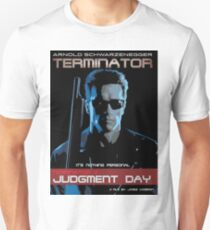 Terminator 2, Arnold Schwarzenegger, James Cameron, Sarah Connor, John Connor Unisex T-Shirt