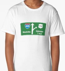 420 Weedville 710 Dabtown road sign Long T-Shirt