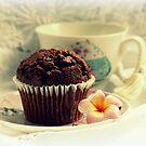 Chocolate Muffin, Frangipani & Tea by Evita