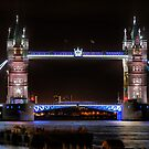The Tower Bridge at Night  by Larry Lingard-Davis