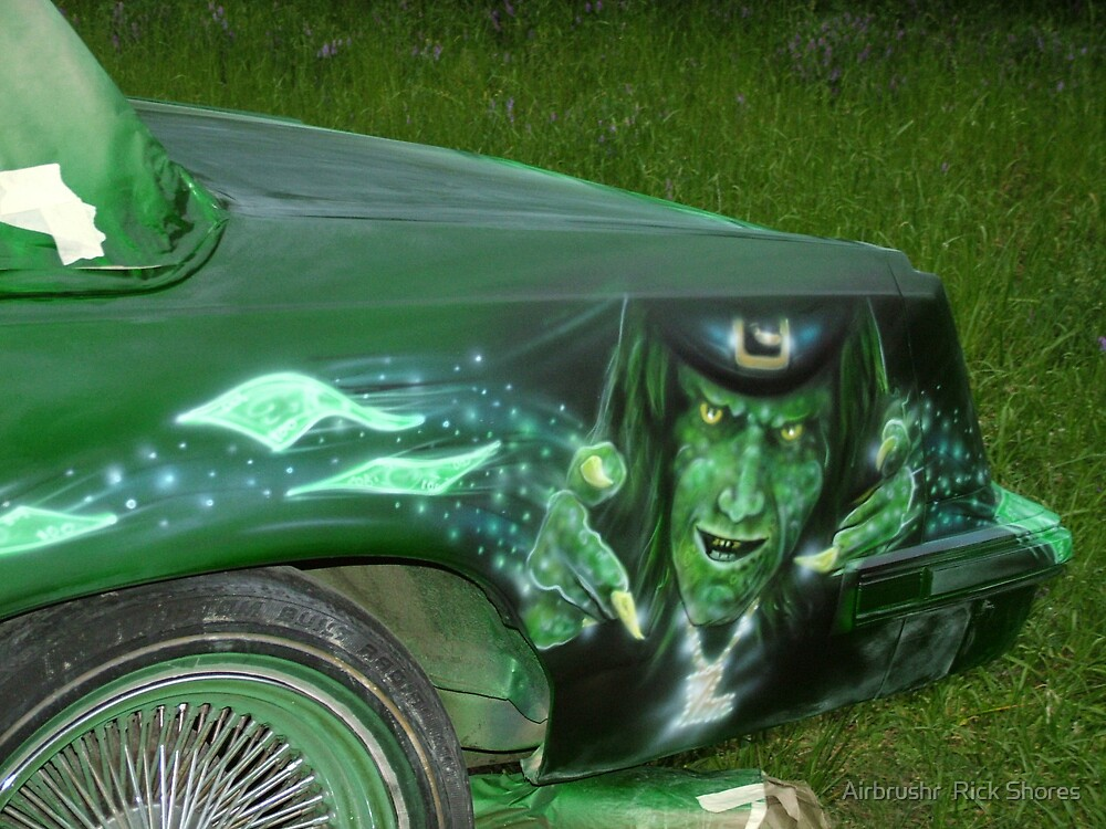 automotive airbrush by Airbrushr  Rick Shores