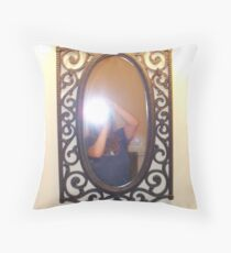 Self Portrait in Mirror Throw Pillow