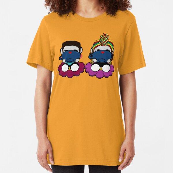 Naka Do & Oyo Yo Sips Tea Party Series (Sipping) Slim Fit T-Shirt