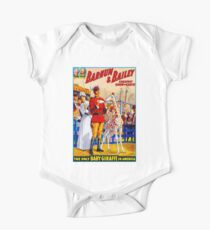BARNUM & BAILEY: Vintage Circus Giraffes Advertising Print One Piece - Short Sleeve