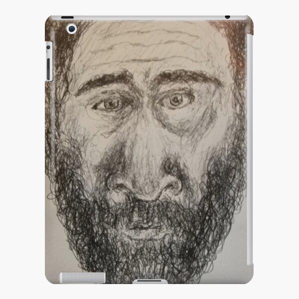 Self-portrait -(210417)- Black biro pen/Sketchpad/White paper iPad Snap Case