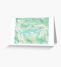 Great White Shark Splatter Greeting Card