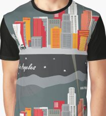 Los Angeles, California at Night - Skyline Illustration by Loose Petals Graphic T-Shirt