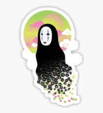 No Face and Soot Sprites Sticker