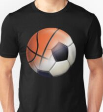 Soccer Ball and Basketball Themes Unisex T-Shirt