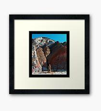 balanced rocks at the base of Aquinnah Cliffs Framed Print