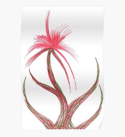 Ruby Flower Poster