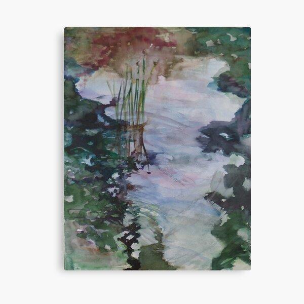 Glass Pond for Koi Canvas Print