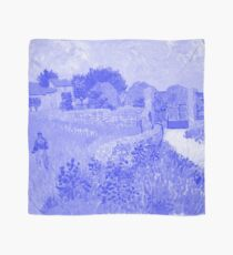 Japanese Porcelain Blue Farmhouse in Provence - Vincent van Gogh Scarf