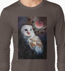 Owl of the Blood Moon Heart T-Shirt