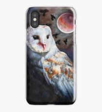 Owl of the Blood Moon Heart iPhone Case/Skin