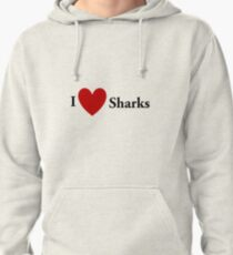 I Heart Sharks Pullover Hoodie
