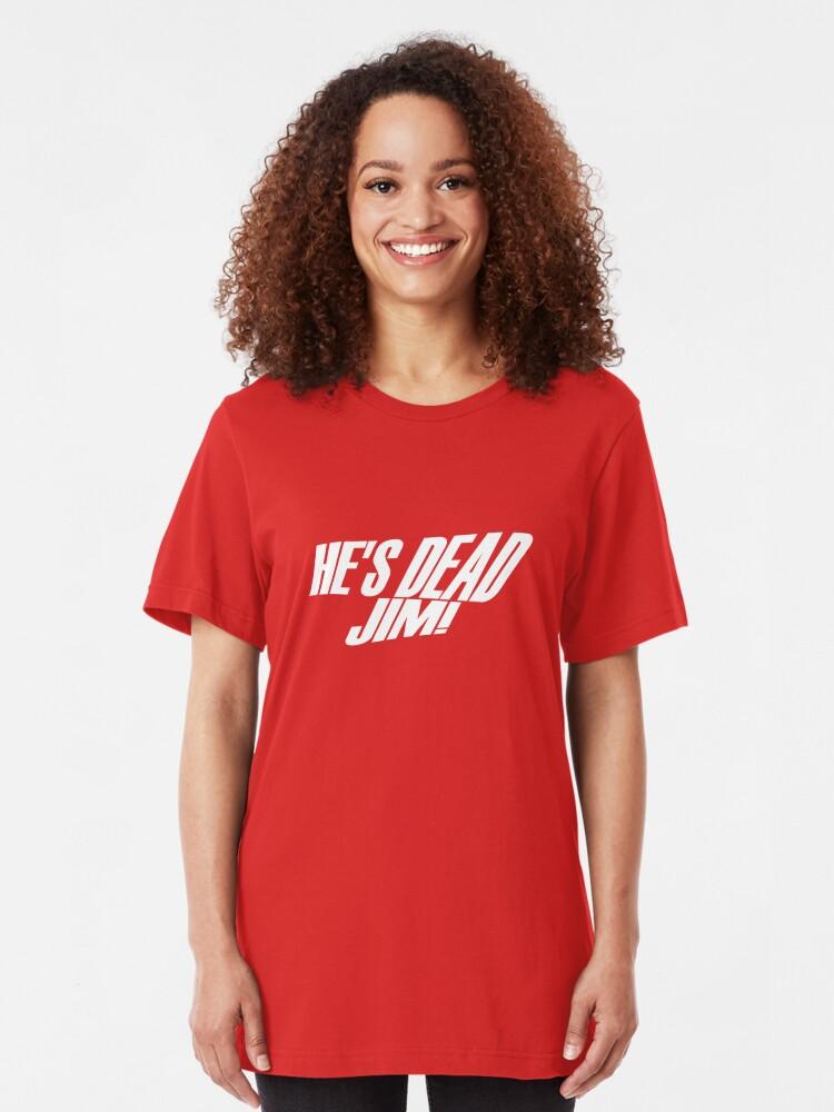 Alternate view of He's Dead, Jim! Slim Fit T-Shirt