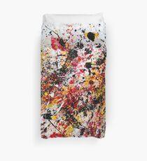 Colorful Splatter Paint Duvet Cover