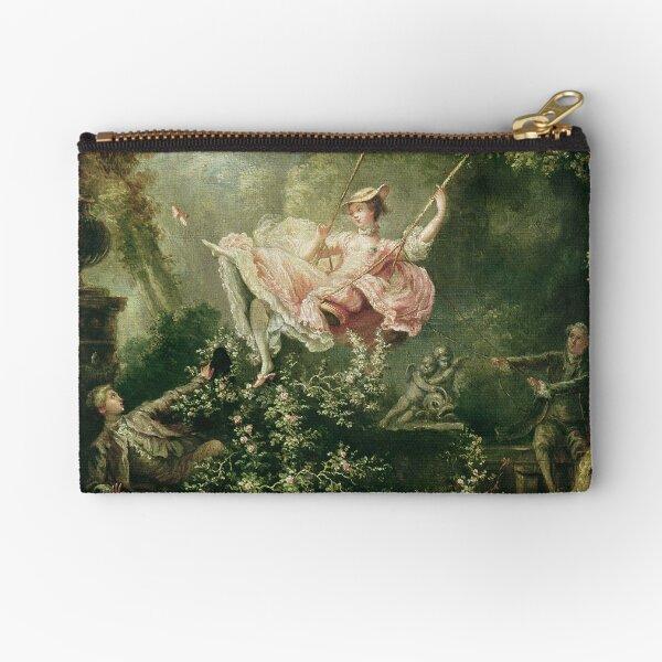 Jean-Honore Fragonard - The Swing, 18th Century Zipper Pouch